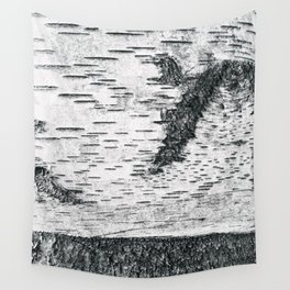 Birch, black & white Wall Tapestry