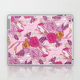 Spring flowers on pink background Laptop & iPad Skin