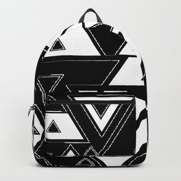 Triangle black and white Backpack