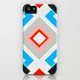 Black Blue Red Pink and White Small Diamond Textured Minimal Simple Pattern Home Goods iPhone Case