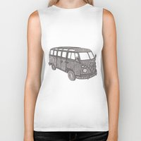 volkswagon Biker Tanks featuring Tangled VW Bus - side view by Cherry Creative Designs