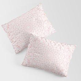 Earthy Rose Gold Blush - Unfolding Mandala Pillow Sham