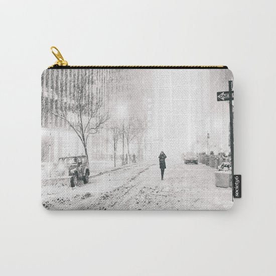 New York City Snow in Times Square Carry-All Pouch