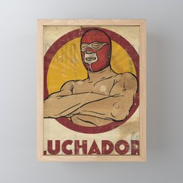 Luchador Framed Mini Art Print