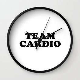 TEAM CARDIO Wall Clock