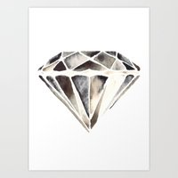 Monotone Diamond Art Print