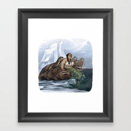 The Arctic Walrus Whisperer Framed Art Print