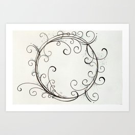 Fairy Dust Circle Art Print