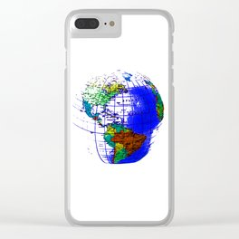Globe-map Clear iPhone Case
