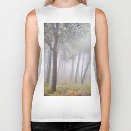 Magic Morning. Into The Foggy Forest. Spring Biker Tank