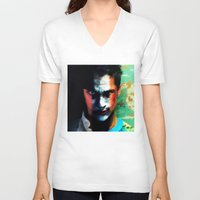 mad men V-neck T-shirts featuring Mad Men by iamomnipotent