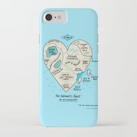 map iPhone & iPod Cases featuring A Map of the Introvert's Heart by gemma correll