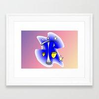 astrology Framed Art Prints featuring Astrology, Aquarius by Karl-Heinz Lüpke