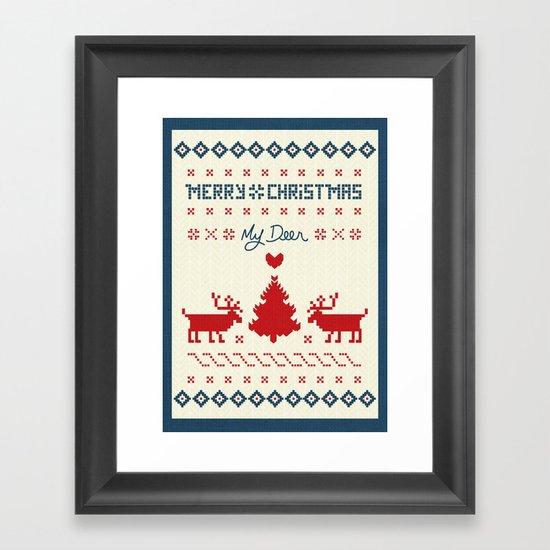 My Deer Framed Art Print