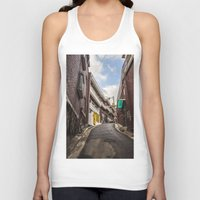 seoul Tank Tops featuring Freedom Village, Seoul by Clayton Jones