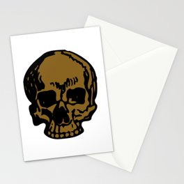 Brown Pirate Skull, Vibrant Skull, Super Smooth Super Sharp 9000px x 11250px PNG Stationery Cards