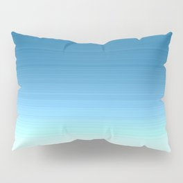 Sea blue Ombre Pillow Sham
