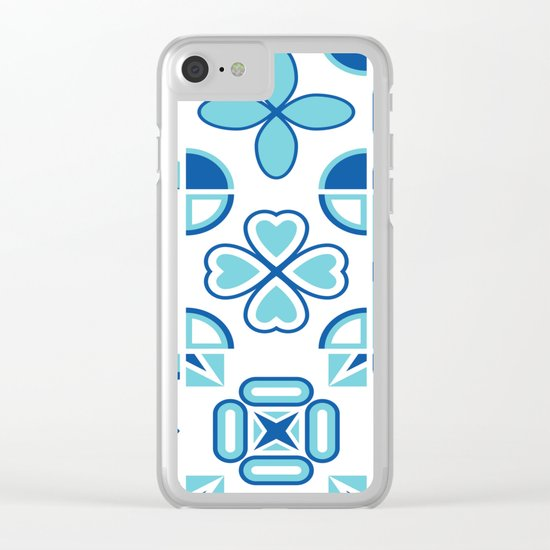 Azulejos blue Clear iPhone Case