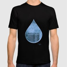 Water : Property of the People 2 Mens Fitted Tee Black MEDIUM