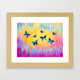 Butterflies and Abstract Colours Framed Art Print