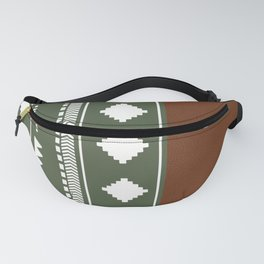 Southwestern Green with faux leather texture Fanny Pack