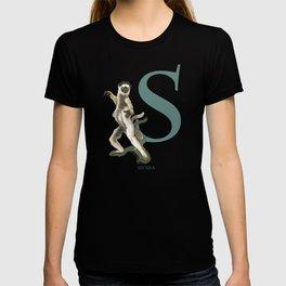 S is for Sifaka: Under Appreciated Animals™ ABC nursery decor green unusual animals T-shirt