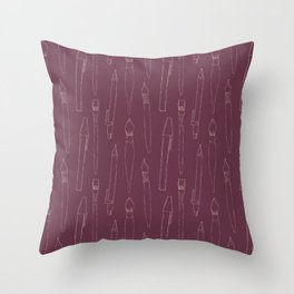 A pencil and a dream... purple! Throw Pillow