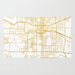 TALLAHASSEE FLORIDA CITY STREET MAP ART Rug