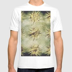 Golden shapes MEDIUM Mens Fitted Tee White
