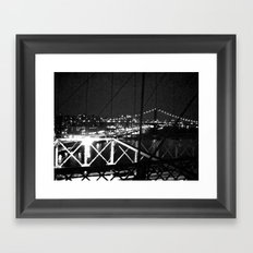 WHITEOUT : Standing 'Top the Bright Lit City Framed Art Print
