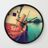 boat Wall Clocks featuring Boat by AJAN