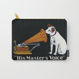Retro his master's voice, Nipper the Dog Carry-All Pouch