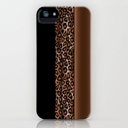 Brown and Black Leopard Animal Pattern Print iPhone Case