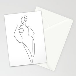 Continuous Line Female Stationery Cards