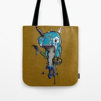 narwhal Tote Bags featuring Narwhal by Mowgli Tattoo