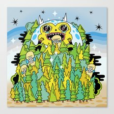 The Monster of Skate Forest Canvas Print