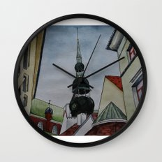 roof geometry Wall Clock
