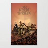 teenage mutant ninja turtles Canvas Prints featuring Teenage Mutant Ninja Turtles by s2lart