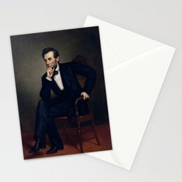 President Abraham Lincoln Painting Stationery Cards