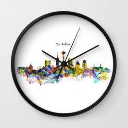 San Antonio Skyline Silhouette Wall Clock