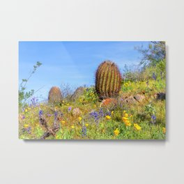Desert Wildflower Hike 4 Metal Print