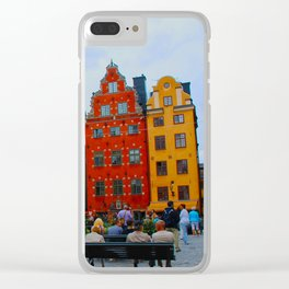 Stortorget Square in Gamla stan - Stockholm Clear iPhone Case
