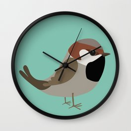 Cute sparrow Wall Clock