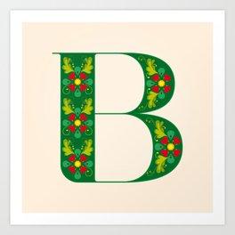 B - Amarilis Art Print