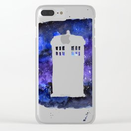 On Our Way to Gallifrey Clear iPhone Case
