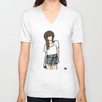 coachella V-neck T-shirts featuring Fringe Benefits Coachella Festival Girl by Highly Anticipated