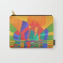 Dreamboat - Cubist Junk In Primary Colors Carry-All Pouch