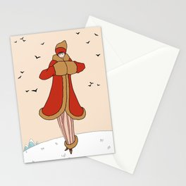 Art Deco Lady: BERNADETTE in Red and Gold Stationery Cards