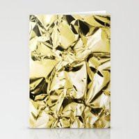 gold foil Stationery Cards featuring Gold foil by lamottedesign