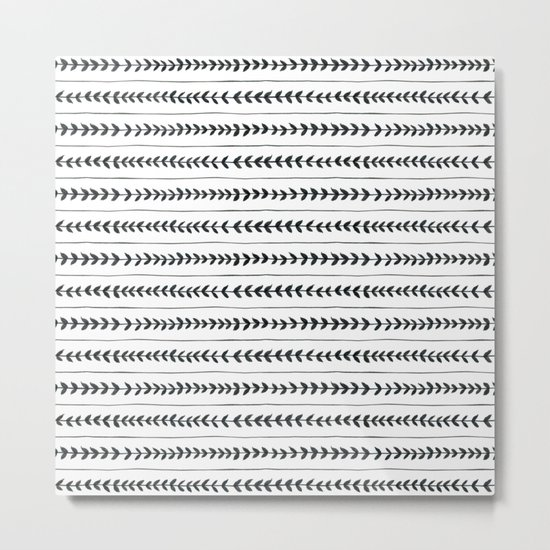 Laurel stripe - back and forth Metal Print